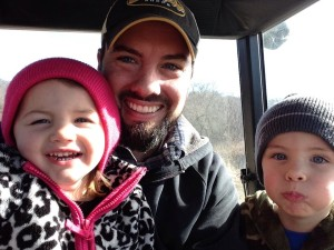 Farm family on the tractor