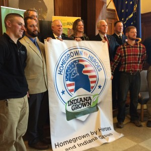 State of Indiana, Homegrown By Heroes Launch Partnership