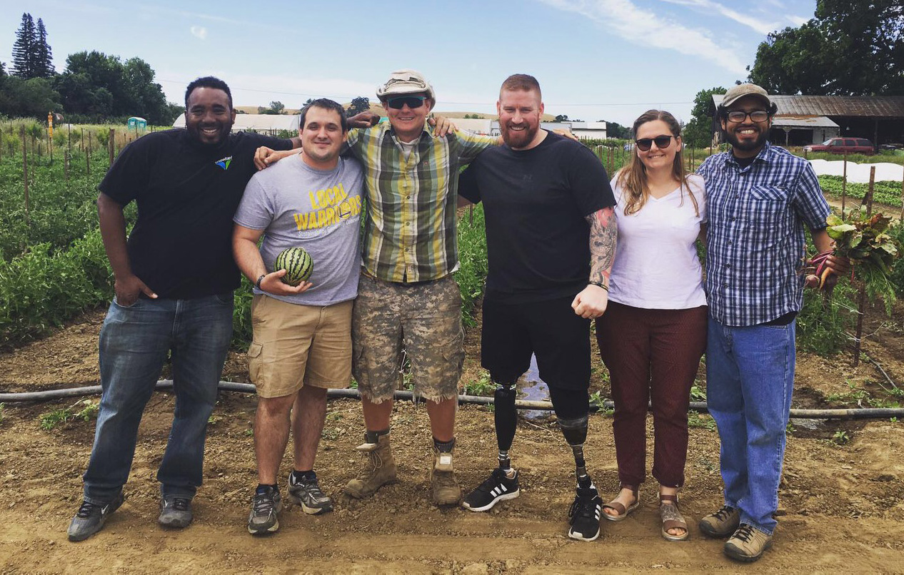 FVC Hosts British Vets, Invictus Games Athletes on Farm Tour