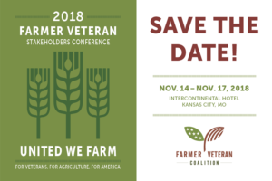 2018 Farmer Veteran Stakeholders Conference to be held in Kansas City