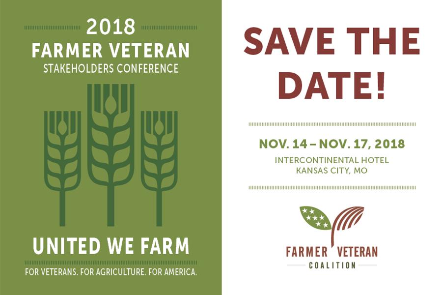 2018 Farmer Veteran Stakeholders Conference to be held in Kansas City