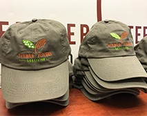 These adjustable fit hats are perfect for working on your farm or just showing off your farmer veteran pride.